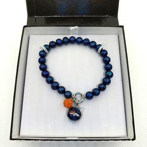 Denver Broncos Pearl Stretch Bracelet